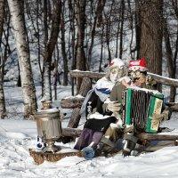 Рождество у самовара я и моя Маша :: gegemoon