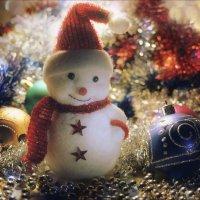 Маленький , веселый , добрый снеговик. :: Елена Kазак