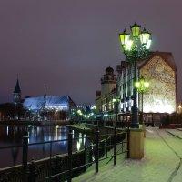 Первый постновогодний снег в рыбной деревне :: Олег Владимирович