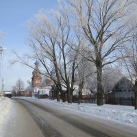 Зима в селе Альгешево :: Ната Волга
