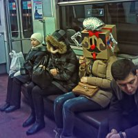 От поездки в метро такая голова...))) :: Tajmer Aleksandr