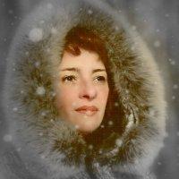 Иринка и снежинки . :: Алла Мещерякова