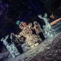 Дети и Снеговик :: Андрей Дыдыкин