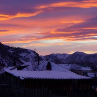 Рассвет в деревне :: Кристина Воробьева