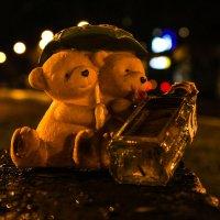 Под дождем устроив сходку, Два медведя пили водку. :: Дмитрий Чернов