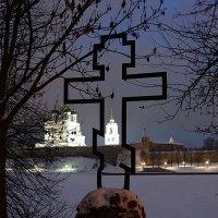 Крест рядом с Ольгинской часовней. Псков. :: Fededuard Винтанюк