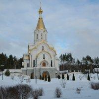 Храм в Катыни перед Рождеством :: Милешкин Владимир Алексеевич