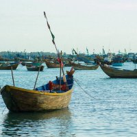 Вьетнам. Закат в морской деревне. :: Алёна Лепёшкина