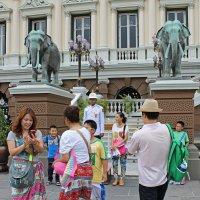 Таиланд. Бангкок. Китайские туристы у королевского дворца :: Владимир Шибинский