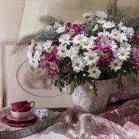 С букетом хризантем... :: Bosanat