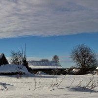 Под снегом спряталась деревня. :: mike95