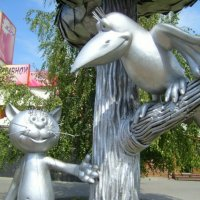 Котёнок Василий и ворона :: Самохвалова Зинаида