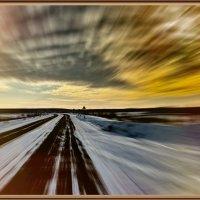 Дорога в зимний сосновый бор :: Анатолий Кузеев
