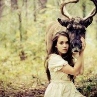 Girl & Deer :: Марина Титова