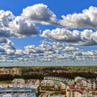 Над Куркино летят облака :: Евгений Лимонтов
