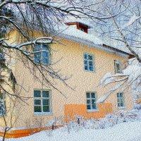 Город,одетый снегом . :: ALISA LISA
