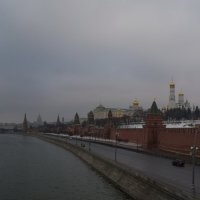 Москва,с видом на Кремль,хмурым февральским утром :: Алексей -