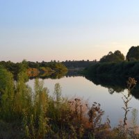 Закат над рекой. :: владимир ковалев