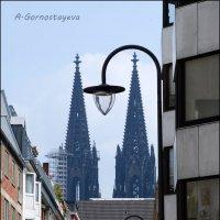 В небе парили зубчатые контуры высоких заостренных башен. :: Anna Gornostayeva