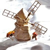 Мельница в снегу :: Валерий Лазарев