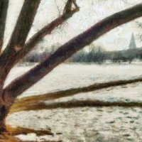Тропинки талые плетью по снегу- правит балом февраль :: Ирина Данилова