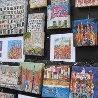Продаются картины. Барселона.Бульвар. :: Герович Лилия