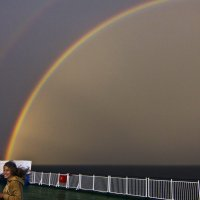 Радуга в Балтийском море-2 :: Александр Рябчиков