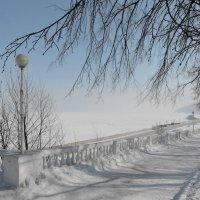 Волга. Март. Морозное марево :: Ната Волга