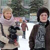 Северодвинск. Масленица. Дамы с собачкой :: Владимир Шибинский