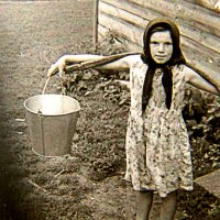 Наташка на хозяйстве, 1967 год :: alek48s