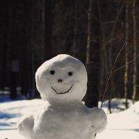 Веселый весенний снеговик :: Анатолий Piligrim54 Крюков