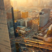 Day-spring. Royal Park Shiodome Tower :: Макс Зазулин