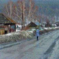 в деревне Ляпки идёт дождь :: Лана Lana