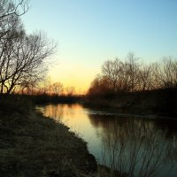 Закат у реки :: Карпухин Сергей