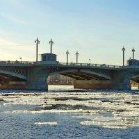 Весна. Март. Нева. Благовещенский мост. :: Владимир Гилясев