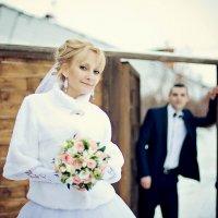 Свадебная прогулка зимой :: марина алексеева