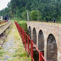 Кругбайкальская железная дорога. Мост. :: Оксана Пучкова