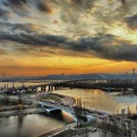Вид на мост Патона в Киеве :: Free