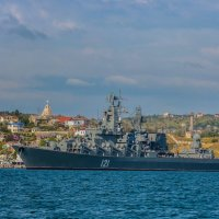 Гвардейский ракетный крейсер «Москва» :: Александр Пушкарёв