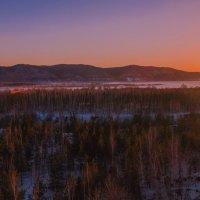 Закат в Жигулевских горах. :: Сергей Исаенко