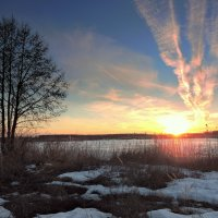 Весенний закат. :: Hаталья Беклова