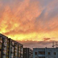Пылающий закат над Хакасией. :: юрий Амосов