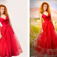 принцесса у замка (до и после) :: Veronika G