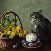 Пасхальный кот :: Ирина Приходько