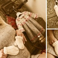 варежки для дочки... :: Светлана Лысцева