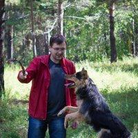 Друг Вовка с собакой Терой. :: Александр Бабарика