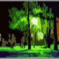 ...ночь, парк, фонарь :: юрий