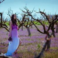 Весна в лиловом!модель Полина Воеватова! :: Елена Олейник