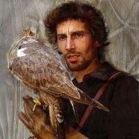 Охотник с ловчим соколом :: Сергей Чернышов