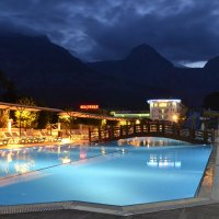 Вид отеля сразу после заката :: Александр Барщевский